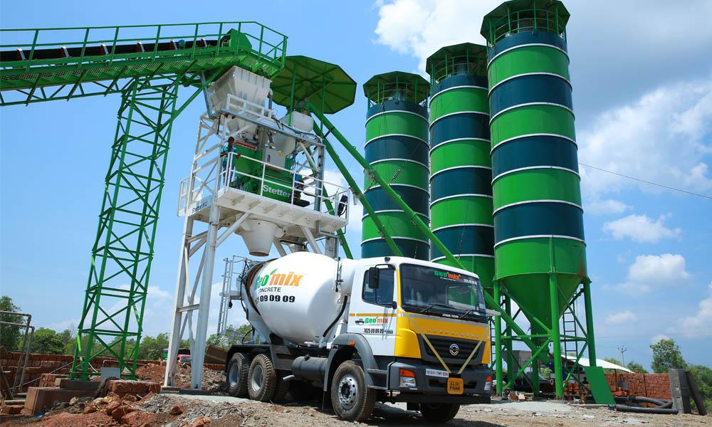 Geomix concrete plant for making row materials for construction in kannur, Calicut and kasargod